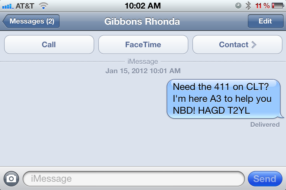 text your Charlotte Savvy+CO realtor rhonda gibbons instead of calling