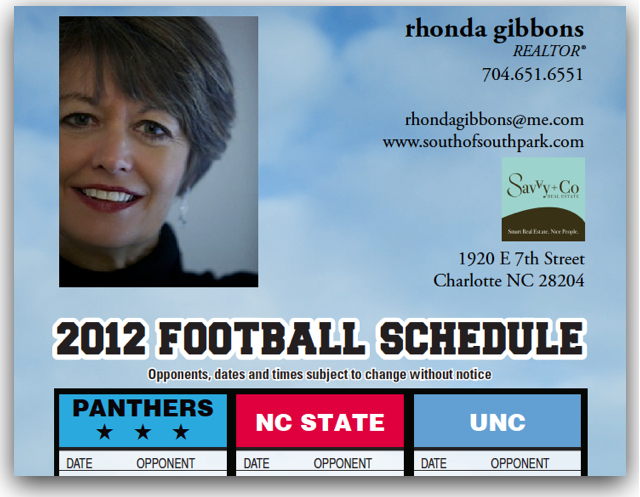 NFL and College Football 2012 realtor magnet
