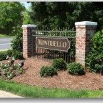 Montibello south charlotte neighborhood sign