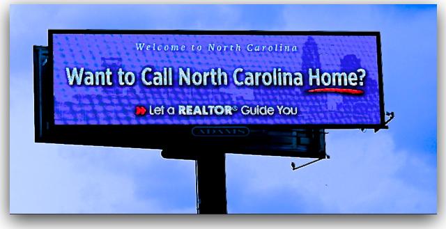 NC realtor DNC billboard call Charlotte home