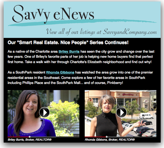 Savvy eNews_ SavvySnaps Charlotte Southpark Agent Videos Rhonda Gibbons
